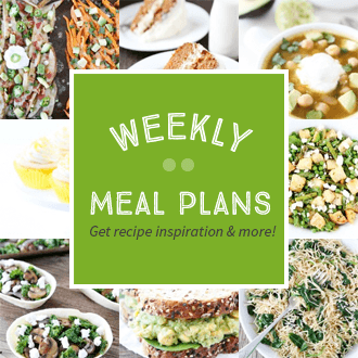 Weekly Meal Plans - Get recipe inspiration and more!