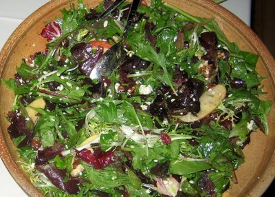 Salad with Maple Mustard Dressing