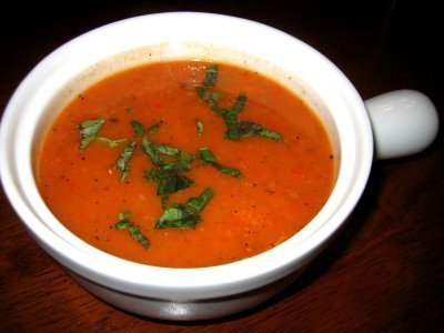 Roasted Red and Yellow Pepper Soup