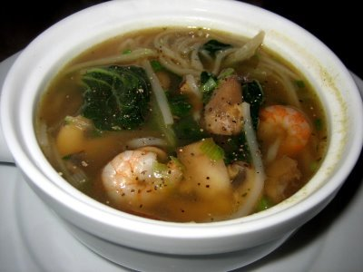 Spicy Shrimp and Bok Choy Soup