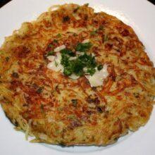 blackened salmon, potato pancakes, smores 015