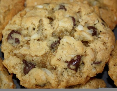 Recipe for Coconut Oatmeal Chocolate Chip Cookies | Two Peas & Their ...