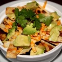 hue rancheros, nachos, cocoa fudge, oatmeal coconut, spinach 121