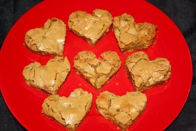 Heart Shaped Blondies