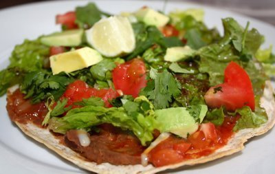 Chicken and Vegetable Tostadas