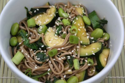 Soba Noodles with Edamame, Zucchini, and Spinach | Two Peas & Their ...