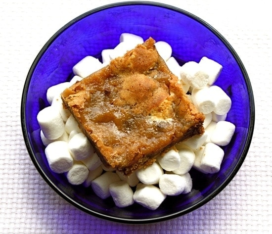 Recipe for Marshmallow Blondies