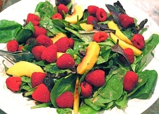 Nectarine and Raspberry Salad