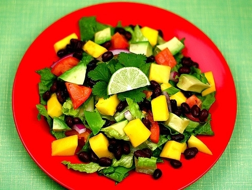 Black Bean, Avocado, and Mango Salad with Cilantro and Lime