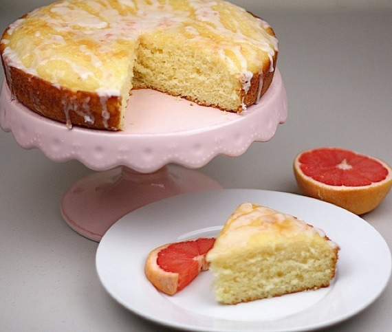 Pink Grapefruit Yogurt Cake Recipe