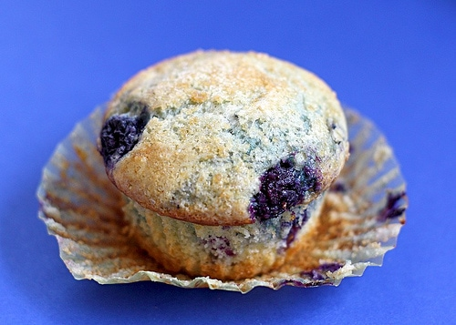 Blueberry Lemon Cream Cheese Muffin Recipe on twopeasandtheirpod.com