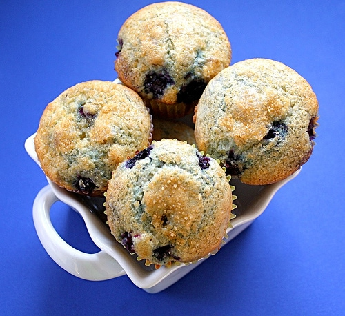Blueberry Lemon Cream Cheese Muffin Recipe | Two Peas & Their Pod