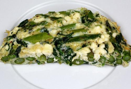 Asparagus, Spinach, And Feta Cheese Frittata Recipe — Dishmaps