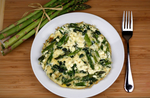 Asparagus, Spinach, and Feta Cheese Frittata Recipe