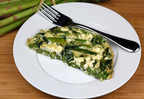 Asparagus, Spinach, and Feta Cheese Frittata Recipe | Two ...