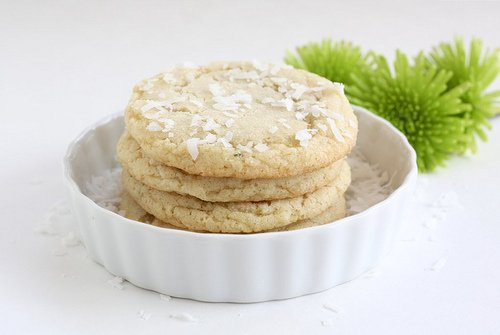 Chewy Lime and Coconut Sugar Cookie Recipe | Two Peas & Their Pod