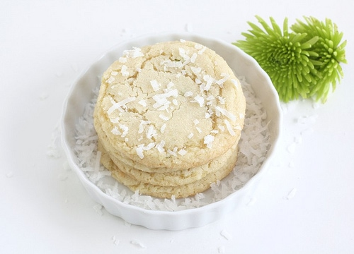 Chewy Lime and Coconut Sugar Cookie Recipe on twopeasandtheirpod.com