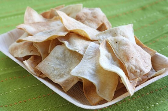 Homemade Baked Tortilla Chips Recipe | Two Peas & Their Pod