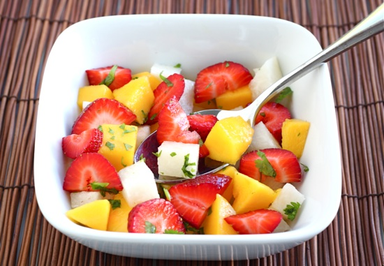 Strawberry Mango Jicama Salad Recipe | Two Peas & Their Pod
