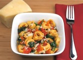 cheese tortellini with spinach