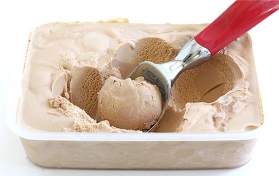Gianduja gelato, or Italian hazelnut and milk chocolate ice cream