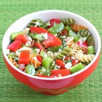Orzo Salad Recipe | Orzo Salad with Lemon Basil Dressing | Two Peas ...