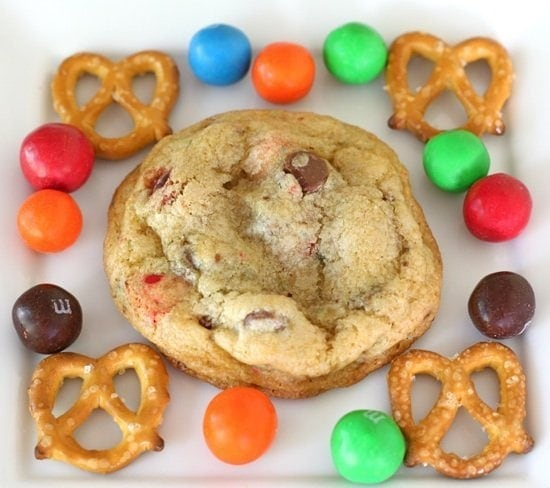 Pretzel M&M Cookies