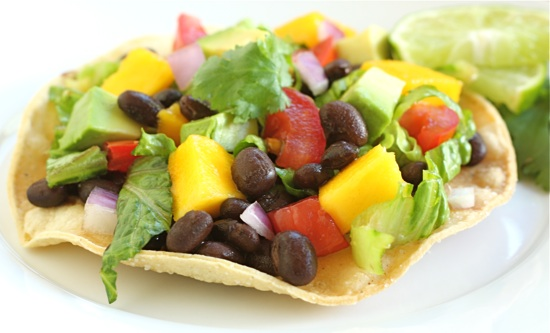 Black Bean and Mango Tostadas | Two Peas & Their Pod