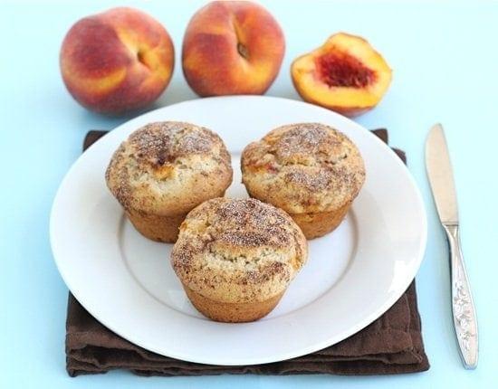 Peaches 'n Cream Muffins | Two Peas & Their Pod