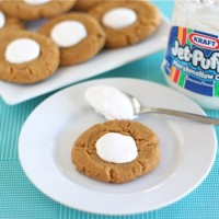 peanut butter fluffernutter cookies