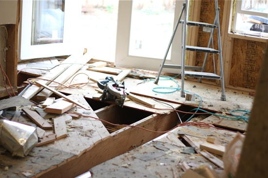 Messy Construction Kitchens : Kitchen remodel part three two peas their pod