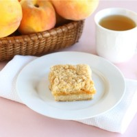 peach shortbread bars