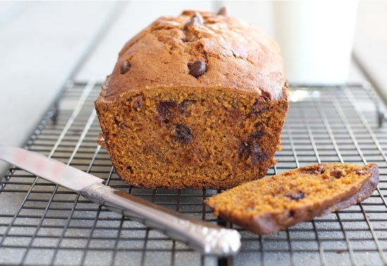 Pumpkin Chocolate Chip Bread | Two Peas & Their Pod