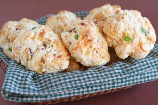 Bacon Cheddar Drop Biscuits | Two Peas & Their Pod