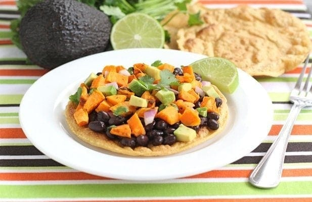 Black Bean Sweet Potato Tostadas | Two Peas & Their Pod