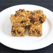 pumkin chocolate chip granola bars