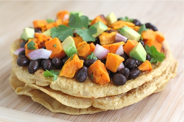 ... meals we love making black bean and mango tostadas during the hot