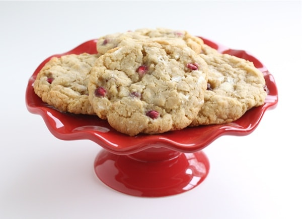 Pomegranate White Chocolate Chunk Cookies | Two Peas & Their Pod