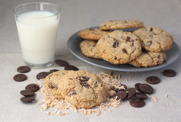 Toasted Coconut Chocolate Chunk Cookies | Two Peas & Their Pod