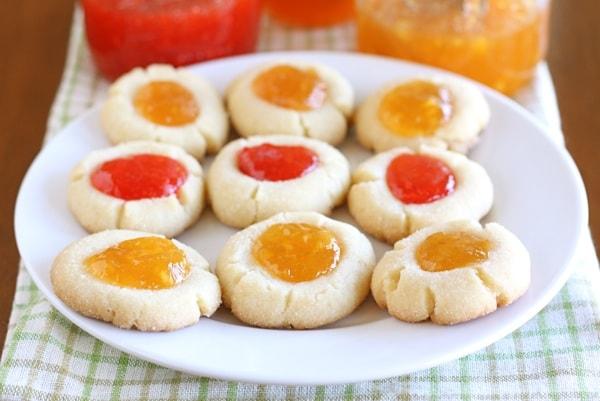 cherry jam bake thumbprint cookies thyme black cherry jam drop ...