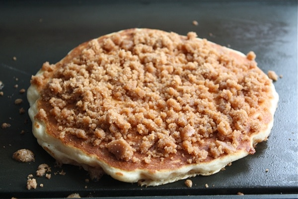 Cinnamon Streusel Pancakes | Two Peas & Their Pod