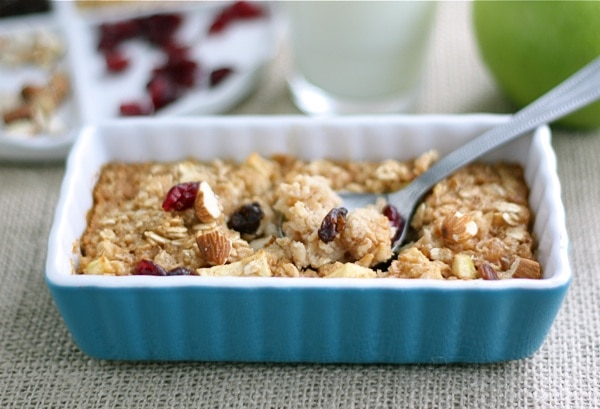 Apple Cinnamon Baked Oatmeal Recipe on twopeasandtheirpod.com This ...