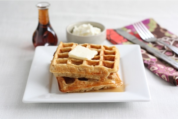 Honey Yogurt Waffles | Two Peas & Their Pod