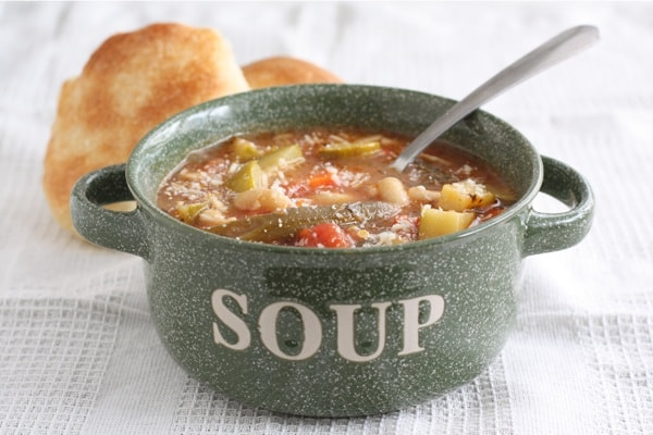 Easy Minestrone Soup from Two Peas and Their Pod