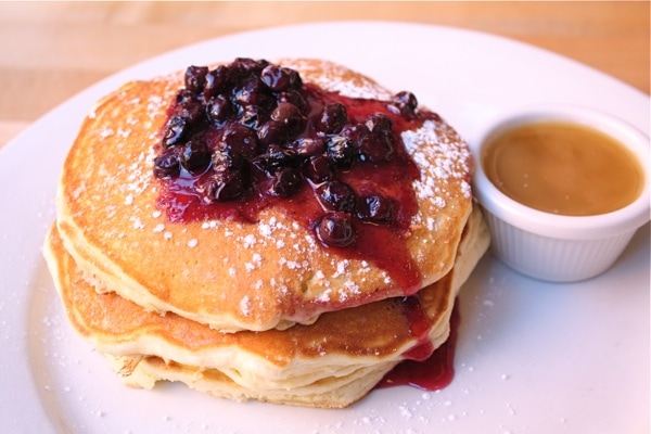 our morning with blueberry pancakes from Clinton Street Baking Co ...