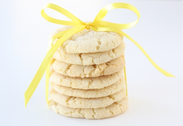 Lemon Sugar Cookie Recipe on twopeasandtheirpod.com Everyone will ask you for this recipe!