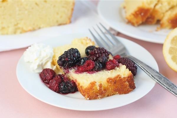 Lemon Ricotta Pound Cake with Berries | Two Peas & Their Pod
