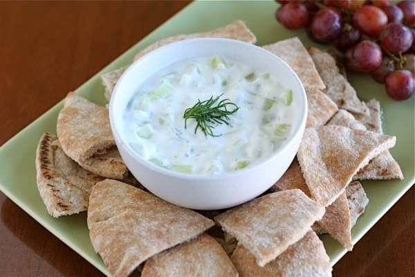 Tzatziki Recipe | Greek Yogurt Cucumber Dip | Two Peas & Their Pod