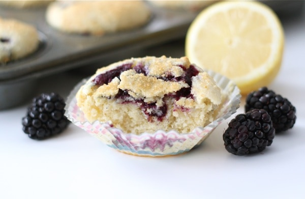 Lemon Ricotta Blackberry Muffins | Two Peas & Their Pod