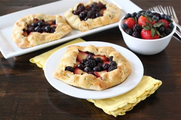 Mixed Berries Galettes Recipe — Dishmaps